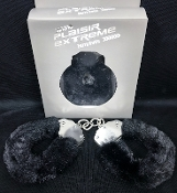 Plaisir Extreme Metal Fluffy Cuffs Black