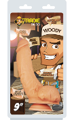 "Tradie Dildo Woody 9"" Flesh"